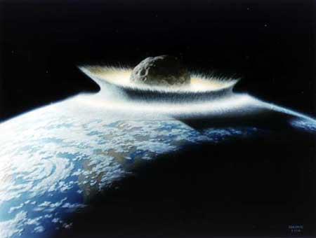 Bir artistin gözünden meteor çarpması...