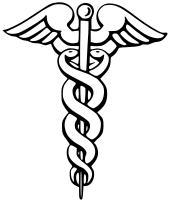 Caduceus: Yunan Mitoloji'sinde Hermes'in asasıdır. Yukarıdaki asa ile karıştırılmaktadır ve günümüzde tıp merkezlerinin çok büyük bir kısmı (%82 civarı) bu asayı amblem olarak kullanmaktadır. Halbuki bu asanın Hippocrates ile hiçbir alakası yoktur.