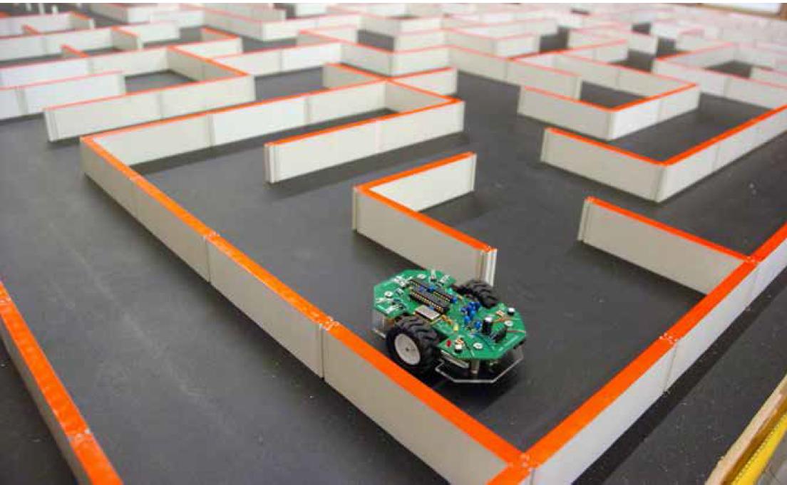 Parkur araştırması yürütülen bir robot çalışması...