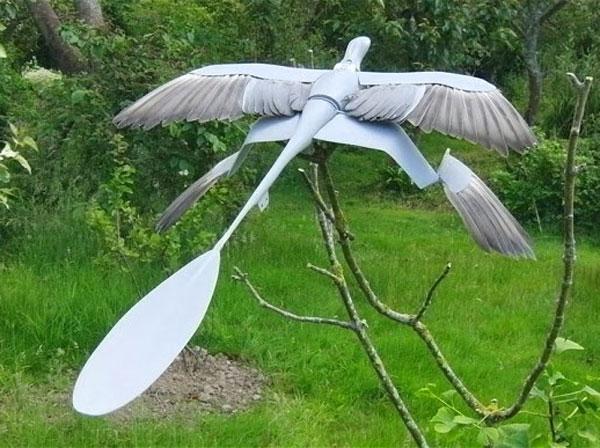 Araştırmada inşa edilen Microraptormodeli.