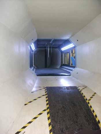 Deneyin yapıldığı rüzgar tüneli