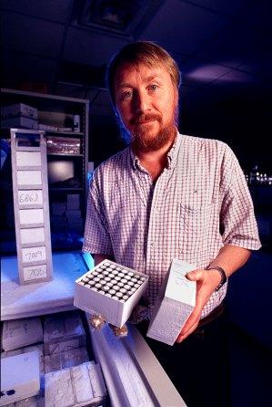 Richard Lenski'nin laboratuvarından bir fotoğraf...