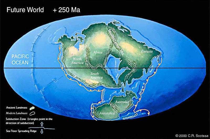 250 milyon yıl sonra Dünya...