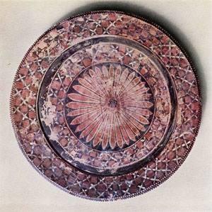 Halaf Kültürü zengin boya bezekli çanak çömleği: Kuzey Irak - Arpachiyah Höyük.
