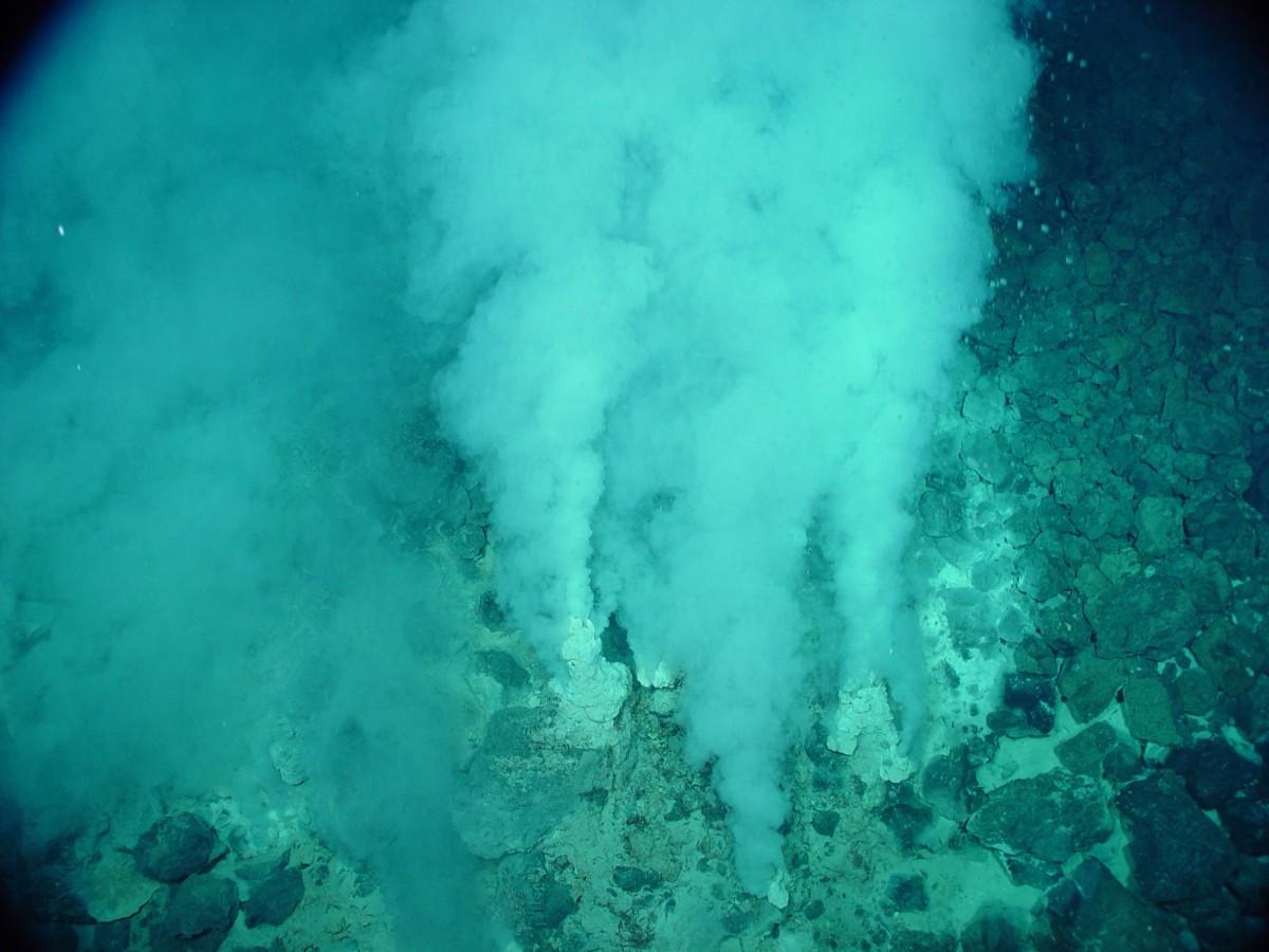 Okyanus tabanlarında bulunan ve yaşamın başladığı noktalar olduğu düşünülen hidrotermal bacalar...