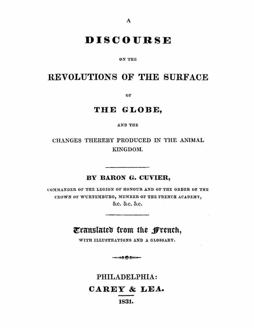 Cuvier'in meşhur kitabı...