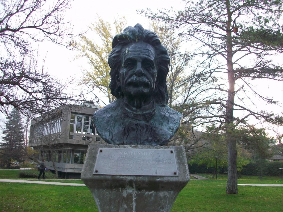 ODTÜ'deki meşhur bilim insanları büstlerinden bir örnek: Einstein