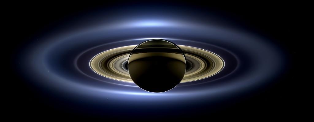 19.06.2013 tarihinde Satürn'ün Güneş tutulması yaşadığı anın görüntüsü.