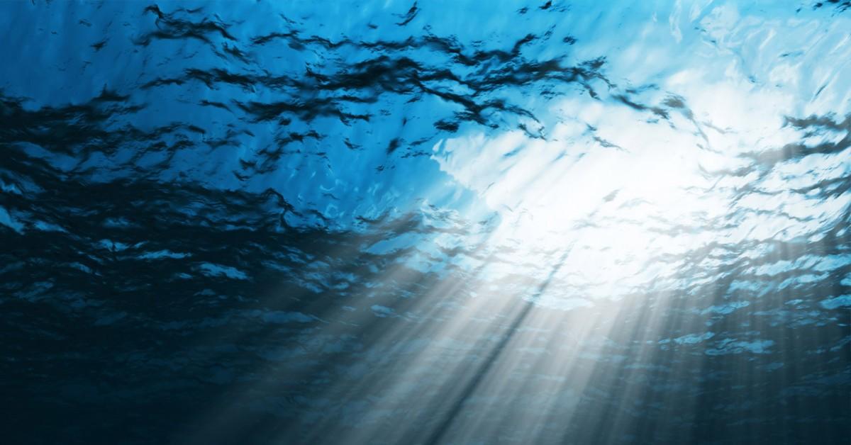 Su içerisinde ışık...