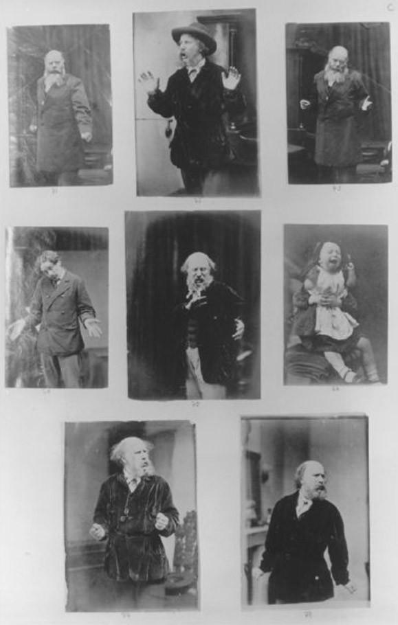 Darwin Arşivi'nden Oscar Rejlander'in çektiği fotoğraflardan bir sayfa, 1871-1872