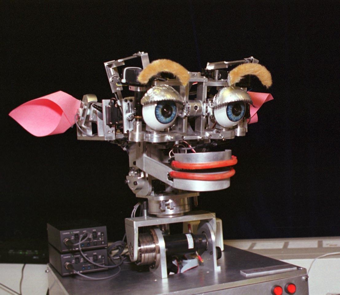 Robot duyguları üzerine araştırma platformu olarak kullanılan KISMET isimli robot...