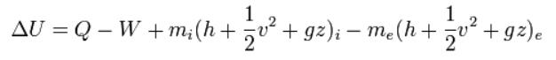 Açık sistemler için Termodinamiğin Birinci Yasası...
