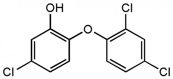 Triklosan'ın kimyasal yapısı. (Kaynak: Geek)