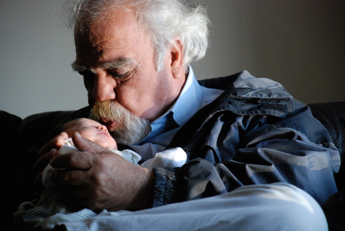 Büyükbaba ve torunu...
