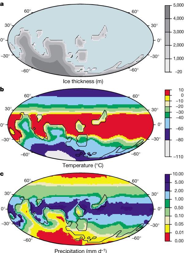 850 milyon yıl önce Dünya... Kıtaların konumlarının tamamen farklı olduğuna dikkat ediniz.