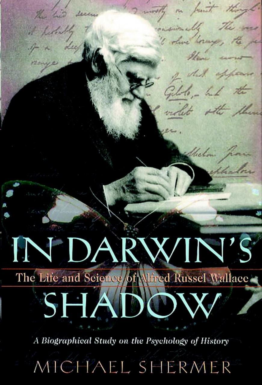 """Shermer tarafından basılan """"Darwin'in Gölgesinde"""" isimli kitabın kapağı..."""