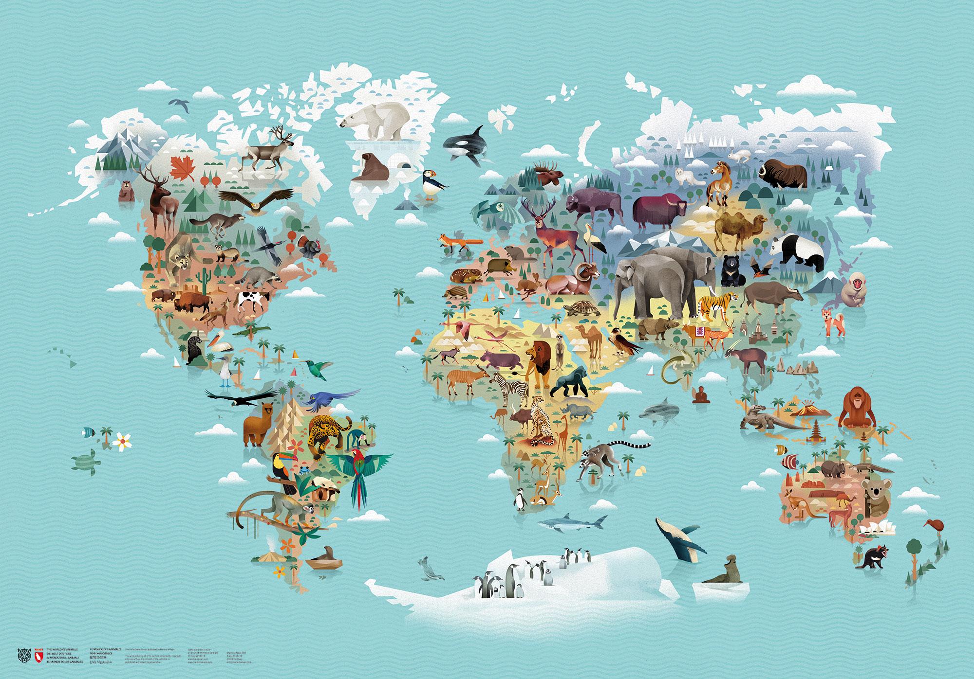 Coğrafyaya göre hayvanların dağılımı...