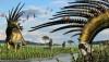 Mohawk Boynuzlu Dinozor Bajadasaurus