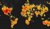 Son 3500 Yılda Dünya'ya Düşen Meteoritlerin Haritası