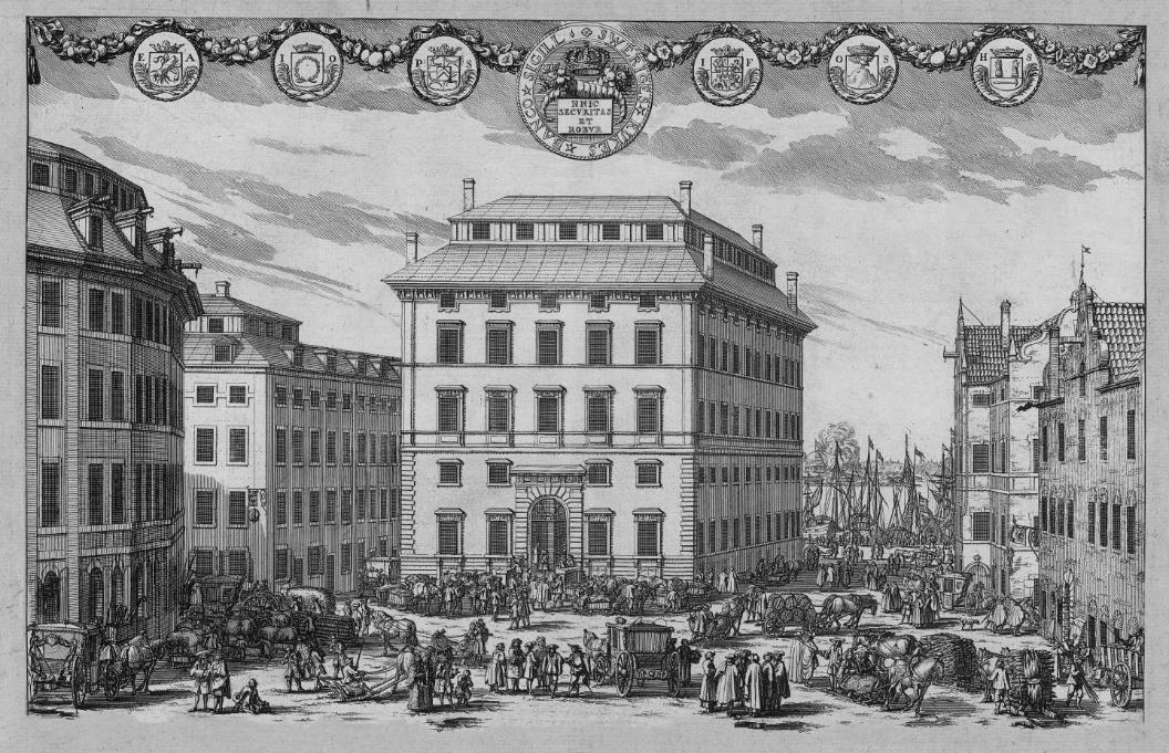 Sveriges Riksbank'ın Stockholm'deki ilk binası.
