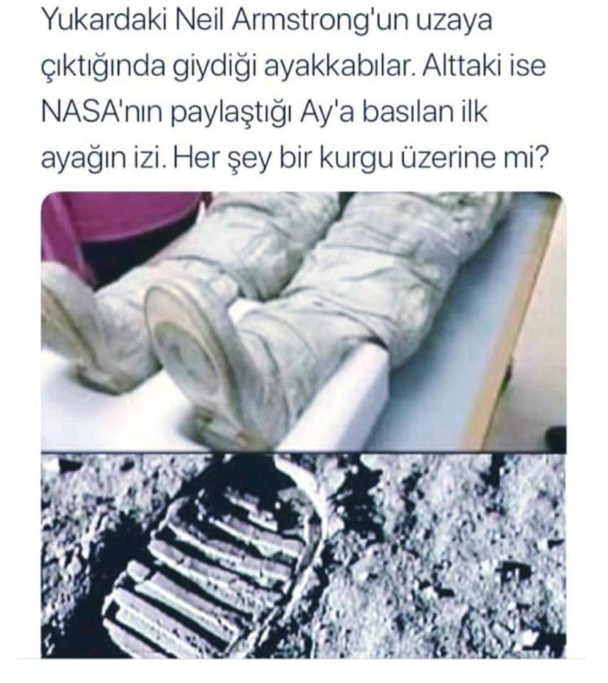 Ay görevlerinin sahte olduğu inancını ispatlamak için uydurulan iddialardan birisi...