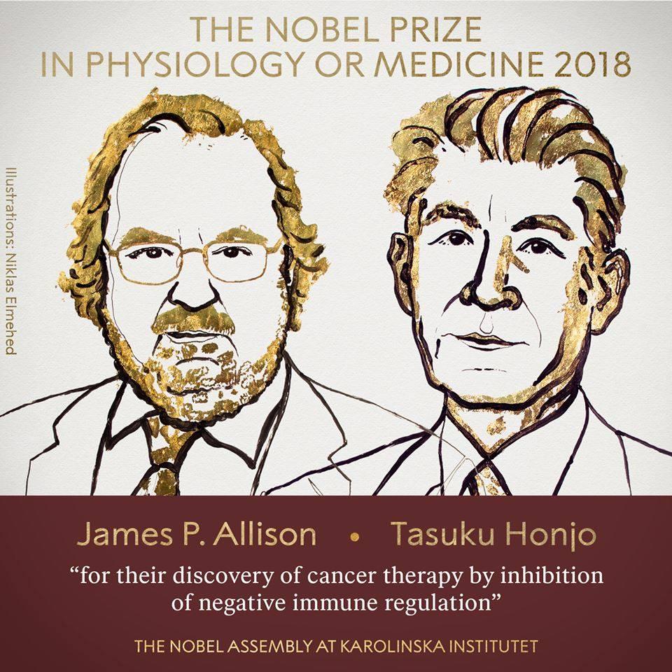 Çalışmaları ile 2018 yılında ödülü hak eden iki bilim insanı.