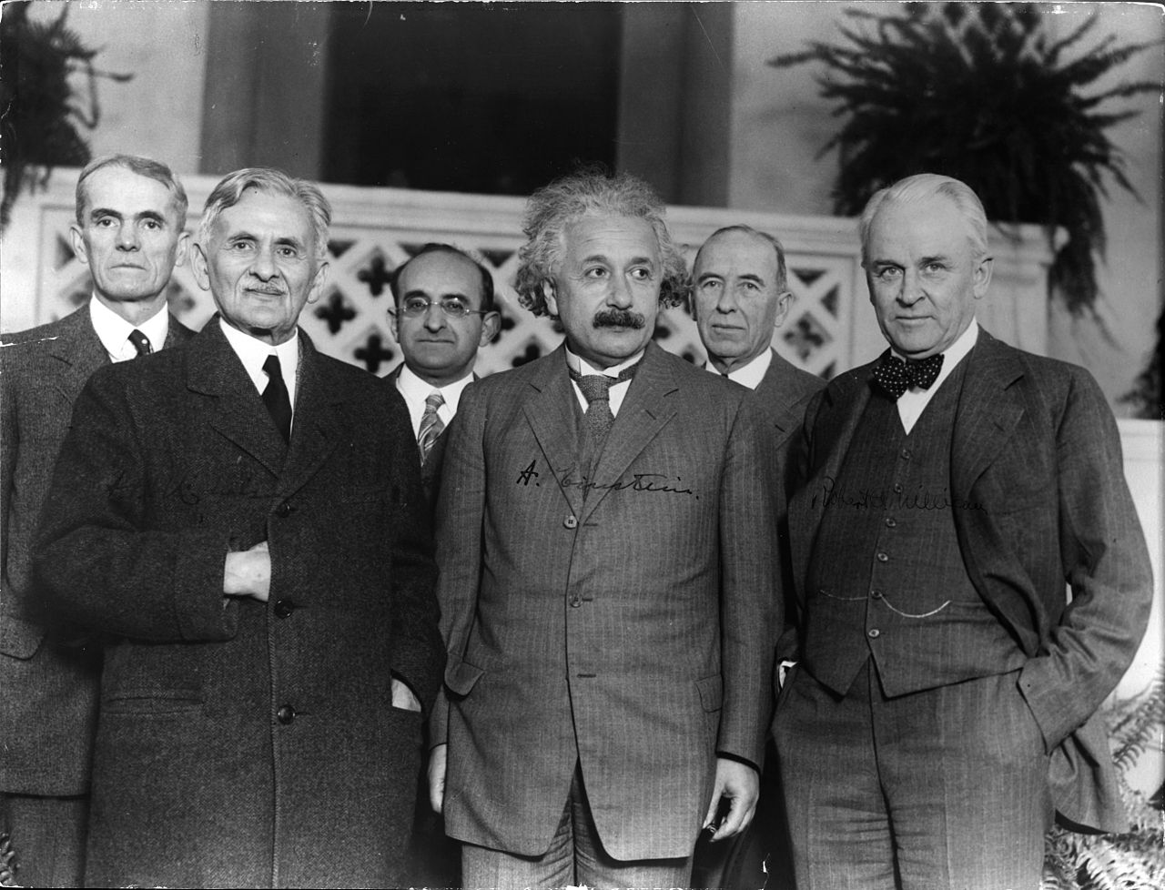 Albert Abraham Michelson, Albert Einstein, Robert Andrews Millikan