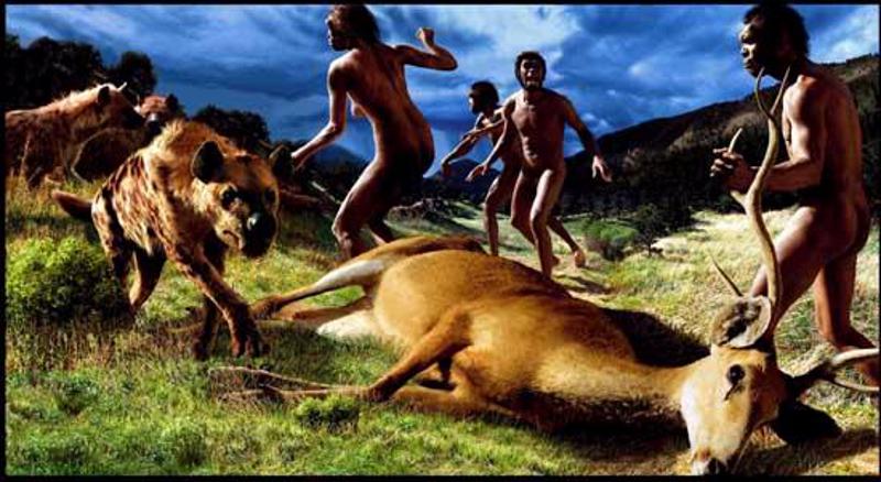 Modern insanın atalarındaki önemli basamaklardan biri olup, ateşi de kontrol etmeyi ilk olarak başaran Homo erectus türü avlanırken; günümüzden 1.5 MYÖ...