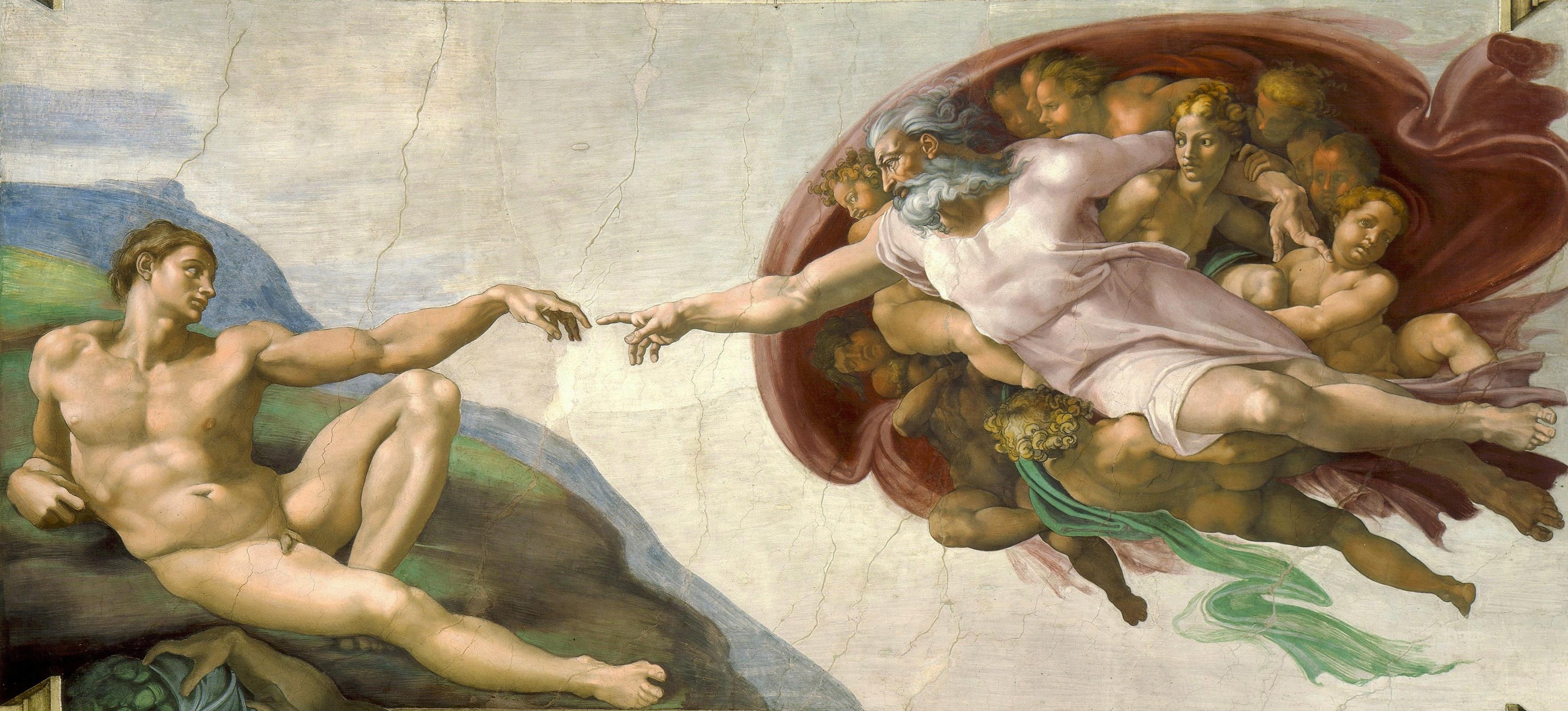 Adem'in Yaratılışı, Michelangelo