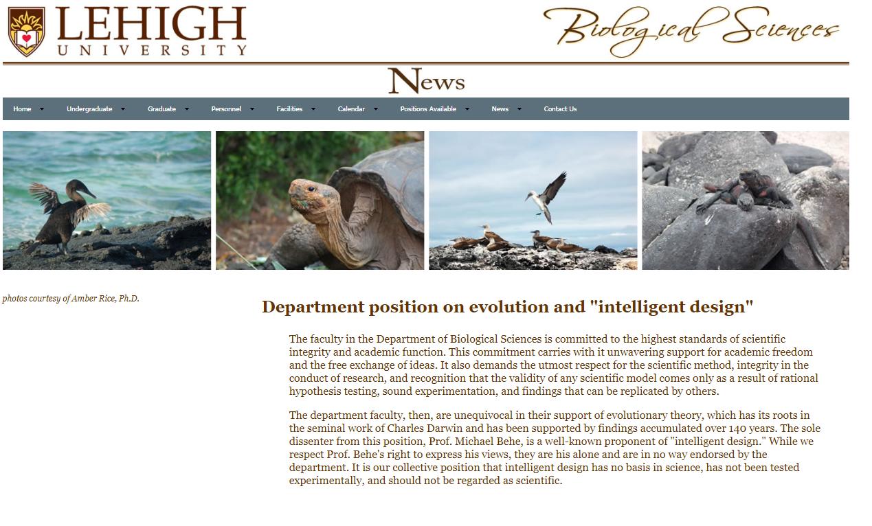 Lehigh Üniversitesi Biyoloji Bölümü Açıklaması