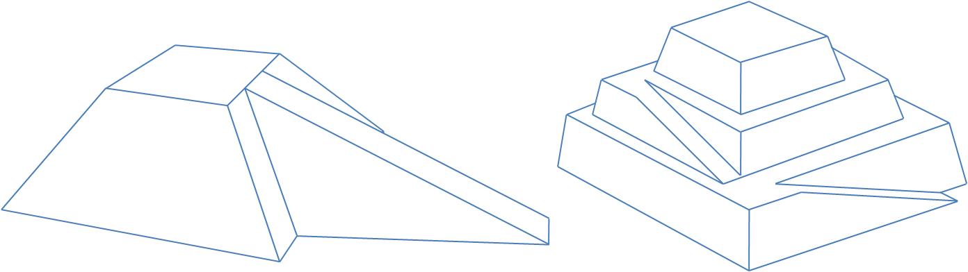 Görsel 7: Rampa fikirlerinden iki tanesi. Soldaki gayretli bir iş iken, sağdaki biraz daha akla yatkın bir yöntem olabilir.