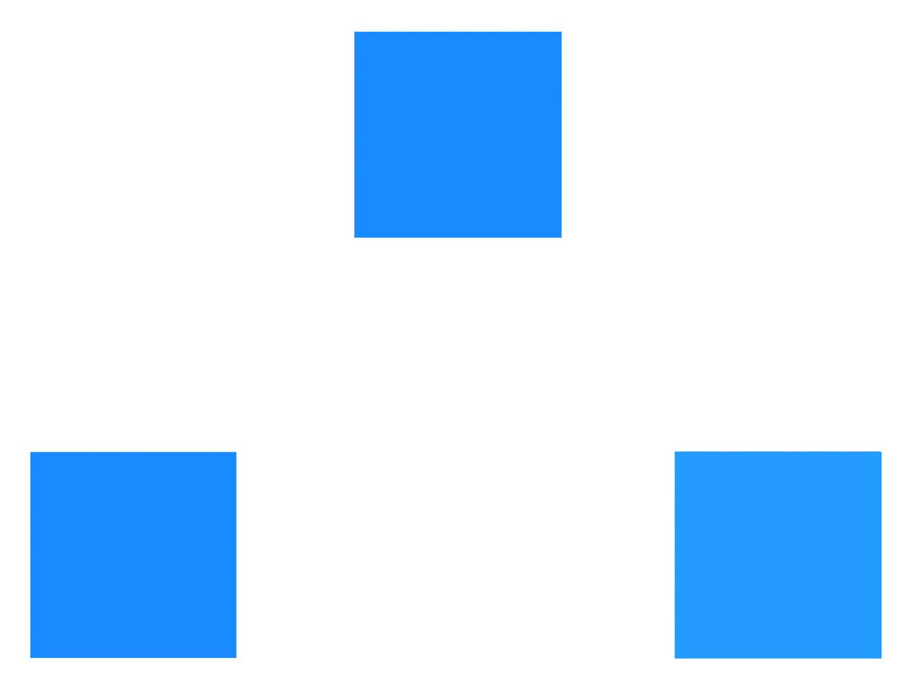 Görselin alt tarafında yer alan iki mavi tonundan hangisi yukarıdaki ile aynı?