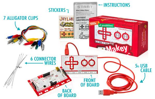 MAKEY: MAKEY ( Modüler Ardışıl Küçük Elektronik Yapboz ) birleştirip bozulabilen bir dizi parçadan oluşur. Parçaları birleştirerek çeşitli modüler yapılabilir ve kodlanabilir. Bu sayede çocuklar hem hayal gücünü geliştirebilir hem de basit kodlama öğrenebilir.