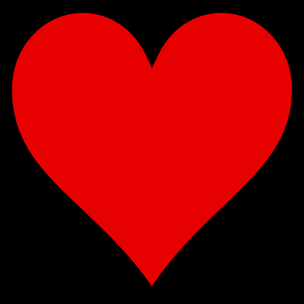 Kalbin yaygın olarak çizilen şekli...