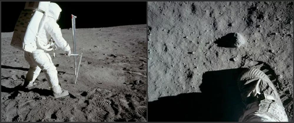 Ay görevlerinde çekilen diğer fotoğraflar.