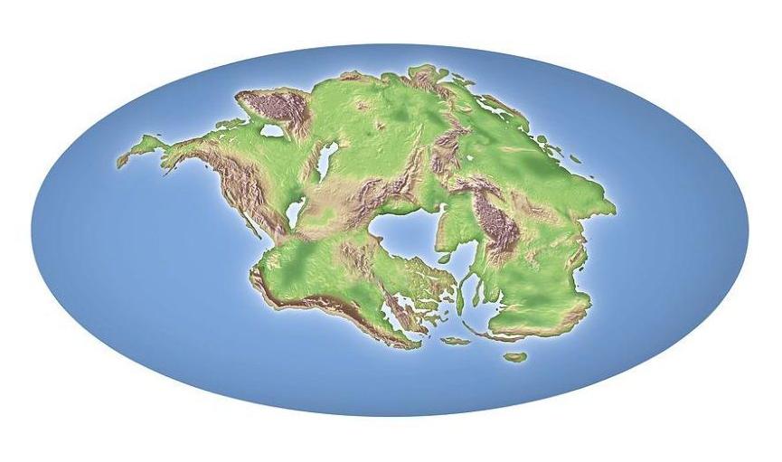Hipotetik Pangea Proxima, Pangea Proxima veya Neopangea modeli.