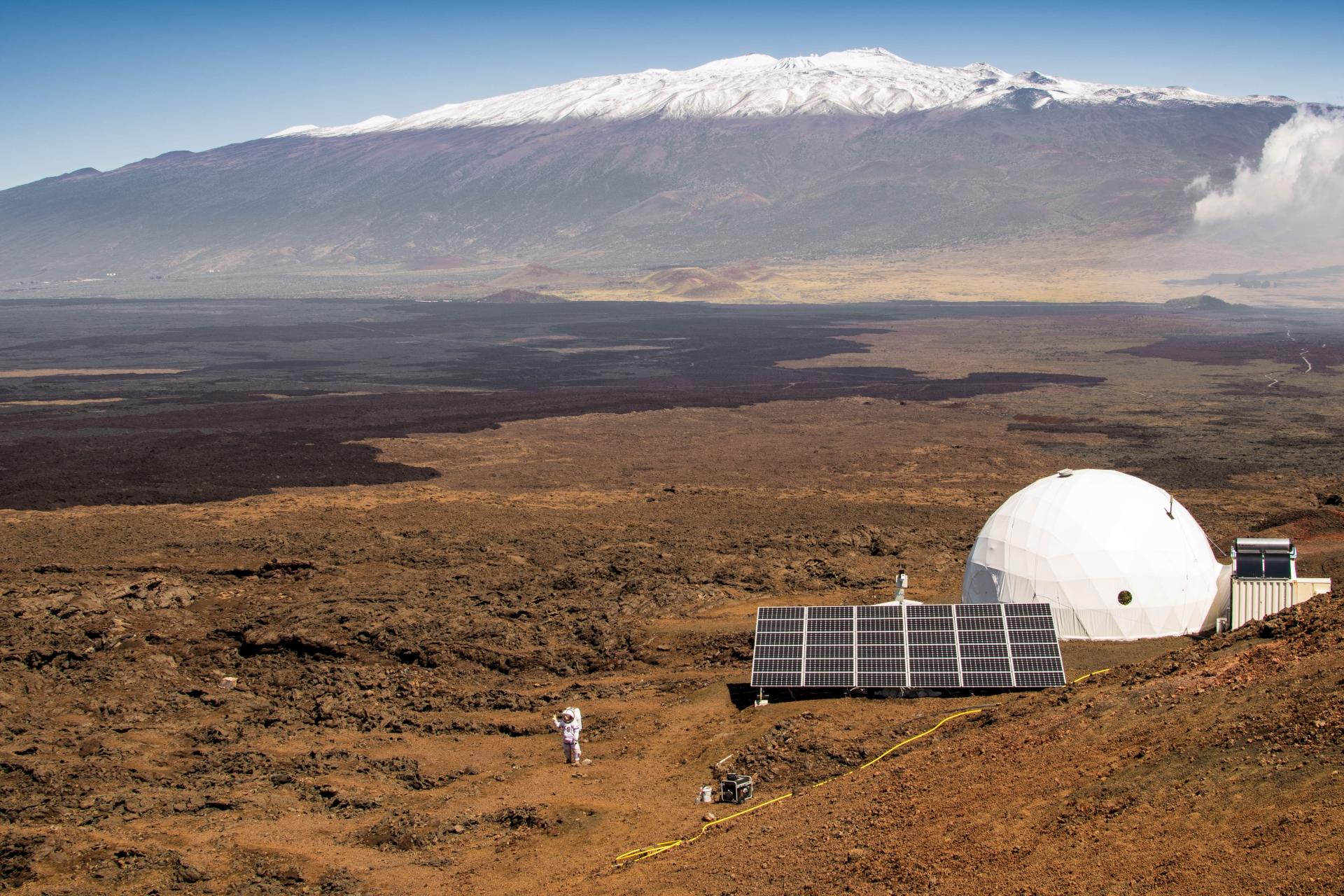 Mauna Loa volkanı eteklerinde Mars yaşantısı simülasyonu