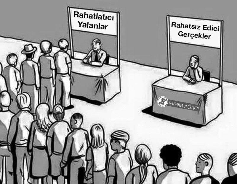 İnsanlığın içinde bulunduğu durumu harika özetleyen bir karikatür...