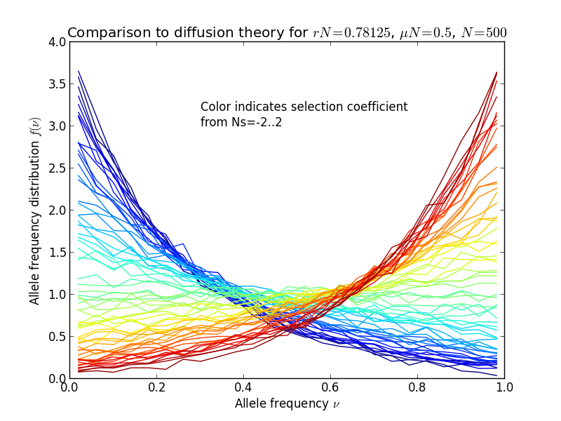 Mutasyon-Seçilim Dengesi'nin FFPopSim isimli yazılım ile modellenmesi.