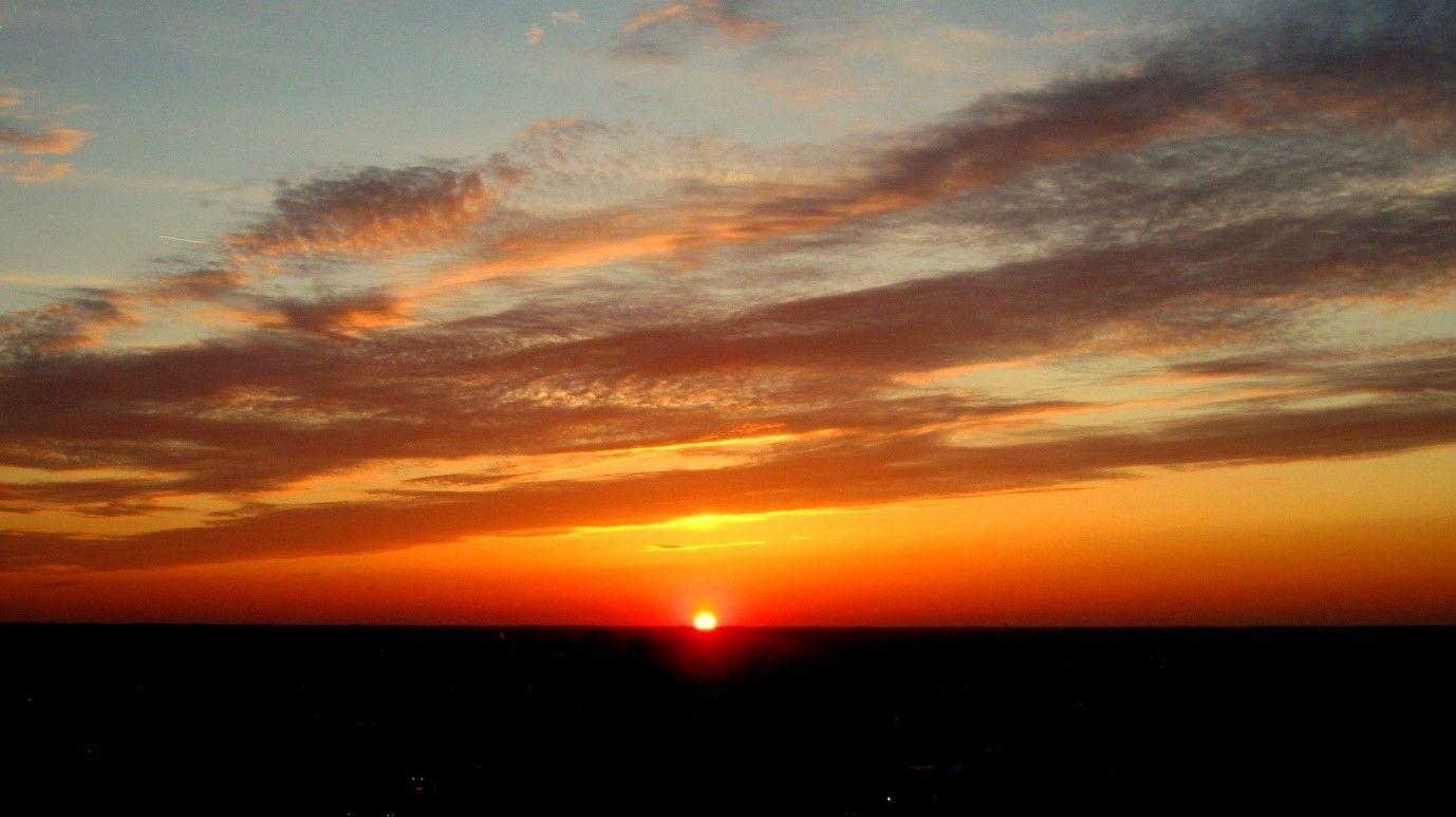 Gün batımında oluşan renkler...